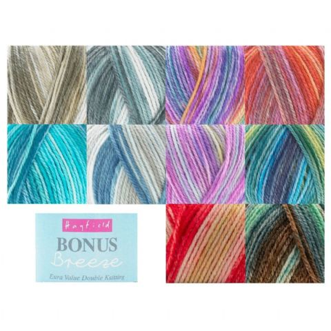 Hayfield Bonus Breeze DK Variegated Yarn Sirdar 100g (1 Supplied)
